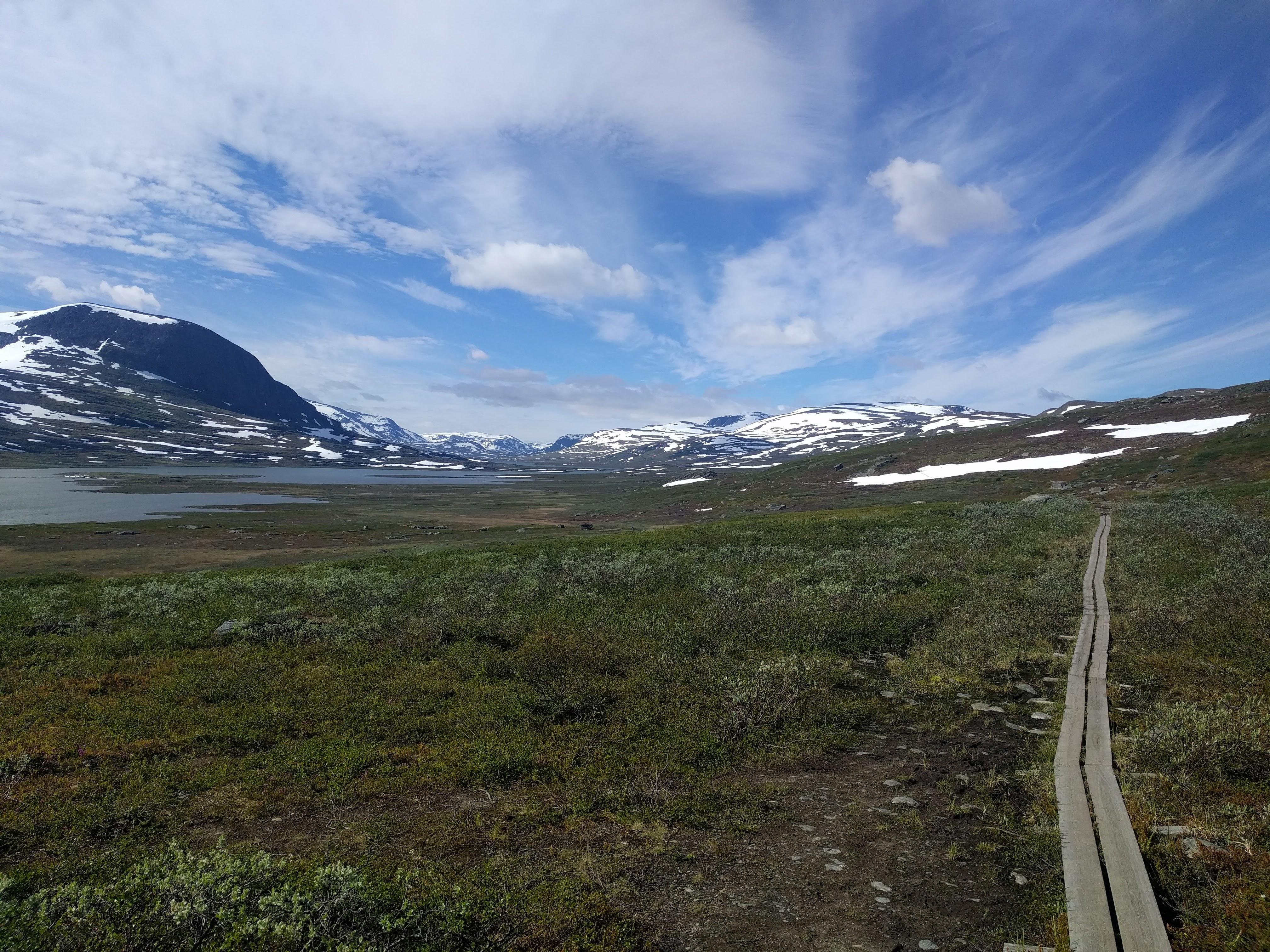 Hiking on board walks from Abiskojaure to Alesjaure